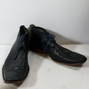 Ted Baker London Black Leather Oxfords Shoes 12